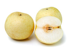Snow pear on white background Stock Image