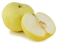 Snow pear on white background Stock Photography