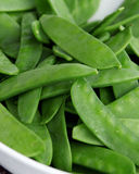 Snow Peas. Legumes such as Snow Peas are an excellent source of dietary fiber Stock Photography