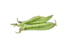 Snow peas isolated on white background.  Royalty Free Stock Photo