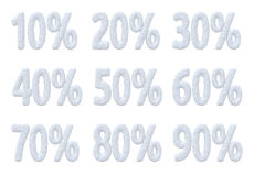 Snow percent price christmas offer collection Royalty Free Stock Image