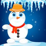 Snow person Royalty Free Stock Photos