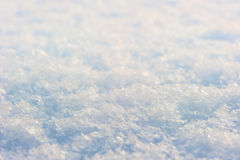Snow photographed close up Royalty Free Stock Image