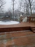Covered deck royalty free stock photos