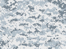 Snow pixels camouflage Royalty Free Stock Image