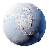 Snow Planet Earth Stock Photo