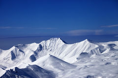 Snow plateau and blue sky Royalty Free Stock Photography