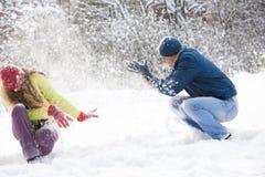Snow play Stock Image