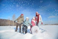 Snow play Stock Photo