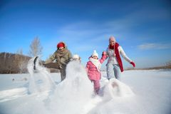 Snow play Stock Images