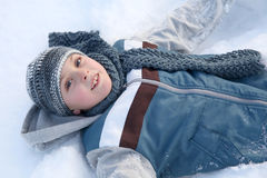 Snow play Royalty Free Stock Photography