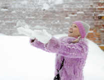 Snow pleasure Royalty Free Stock Images