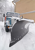 The snow-plough Stock Photography