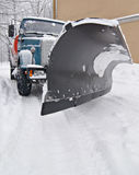 The snow-plough Royalty Free Stock Photo