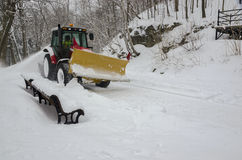 Snow plough in Montreal Royalty Free Stock Images