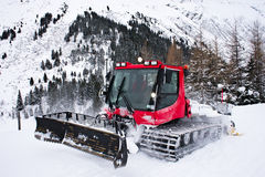 Snow plough. On the mountain, in Austria, in Alps royalty free stock photos