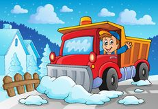 Snow plough theme image 2 Royalty Free Stock Photo