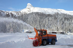 Snow plow Stock Image