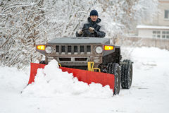 Snow-plow Royalty Free Stock Photography
