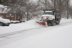 Snow-Plow Stock Image