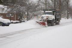 Snow-Plow stock image