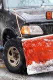 Snow plow royalty free stock photo