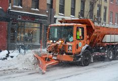 Snow plow in Manhattan New York Royalty Free Stock Photos