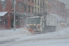 Snow plow in Manhattan New York Stock Photography