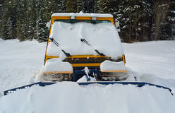 Snow Plow Stuck In The Snow Stock Photography