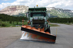 A snow-plow in the summertime at bear tooth pass Royalty Free Stock Photography