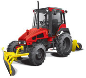Snow plow tractor Stock Photography