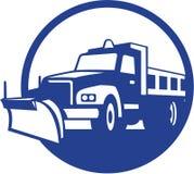 Snow Plow Truck Circle Retro Royalty Free Stock Photos