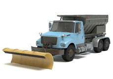 Snow Plow Truck. 3d illustration of a snow plow truck Stock Image