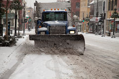 Snow plow truck Royalty Free Stock Photos