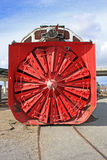 Snow Plow. Vintage rail snow plough in a siding Royalty Free Stock Photography