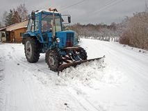 Snow plowing 2 Royalty Free Stock Photography