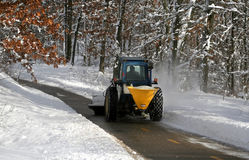 Snow Plowing Royalty Free Stock Image