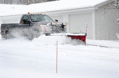 snow plowing job Stock Photo