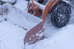 Snow plowing Stock Photography