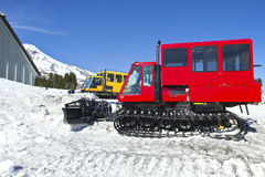 Snow plows at Timberline lodge Oregon. Royalty Free Stock Photos