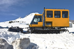 Snow plows at Timberline lodge Oregon. Royalty Free Stock Photo