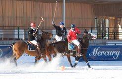 Snow polo cup Stock Photos