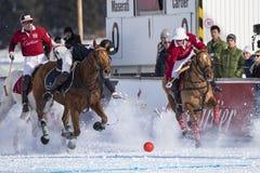 Snow Polo Cup 2017 Sankt Moritz Royalty Free Stock Photo