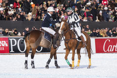 Snow Polo Cup 2017 Sankt Moritz Royalty Free Stock Images