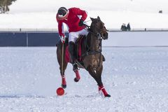 Snow polo scene during a match. Snow polo scenre during a match free from trademarks Stock Images