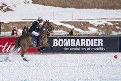 Snow Polo World Cup Sankt Moritz 2016 Stock Photo