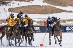 Snow Polo World Cup Sankt Moritz 2016 Stock Photos