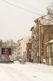 Snow in Pomorie, Bulgaria royalty free stock image