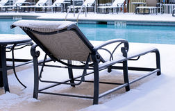 Snow at the Pool Royalty Free Stock Photos