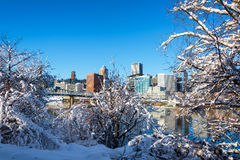 Snow and Portland Royalty Free Stock Image